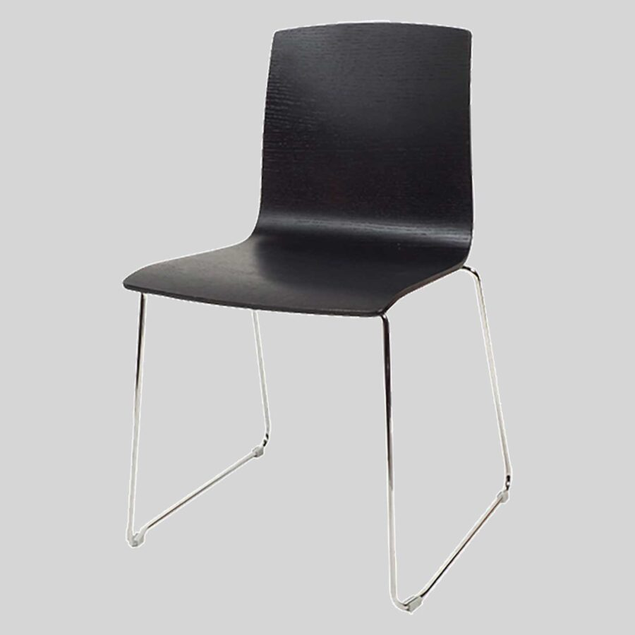 Palais plywood chairs - Black