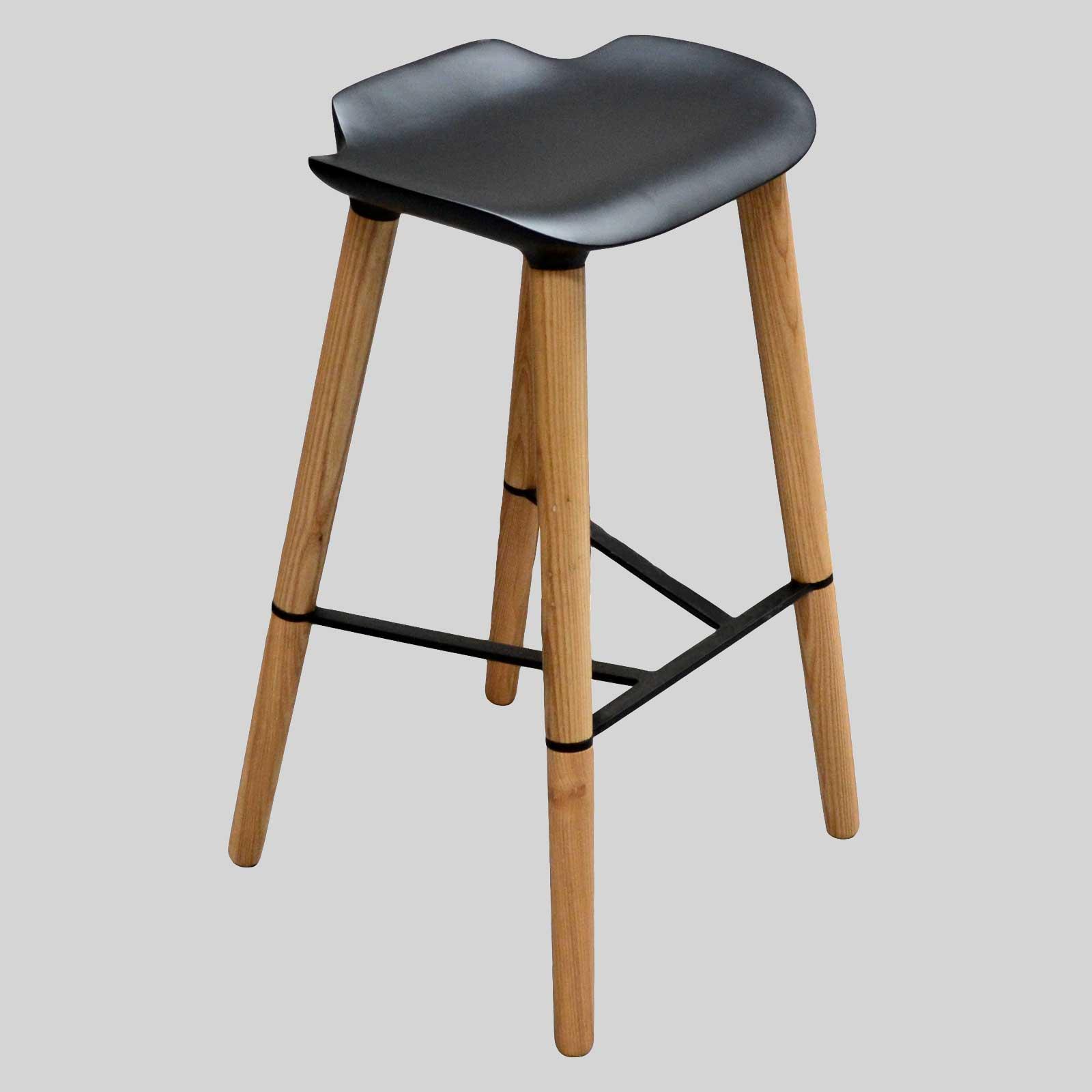 Bar Stool Chair With Wheels 2 Bar Stools Oak Wood Wooden
