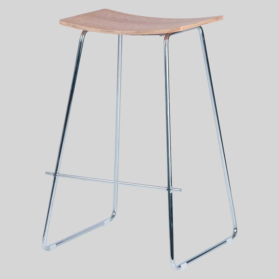 Pi Stool - Natural, Chrome