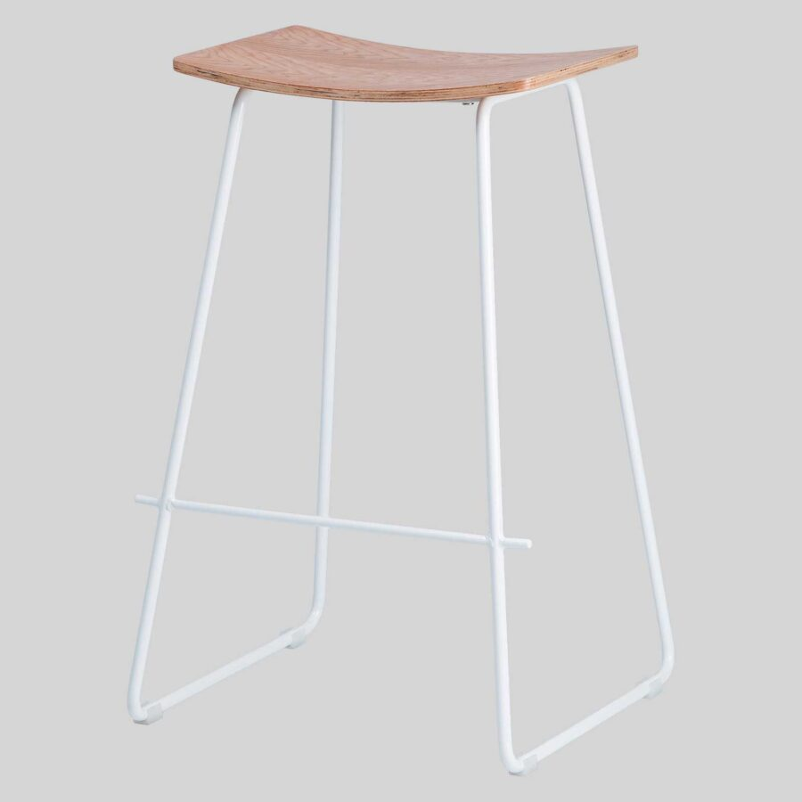 Pi Stool - Natural, White