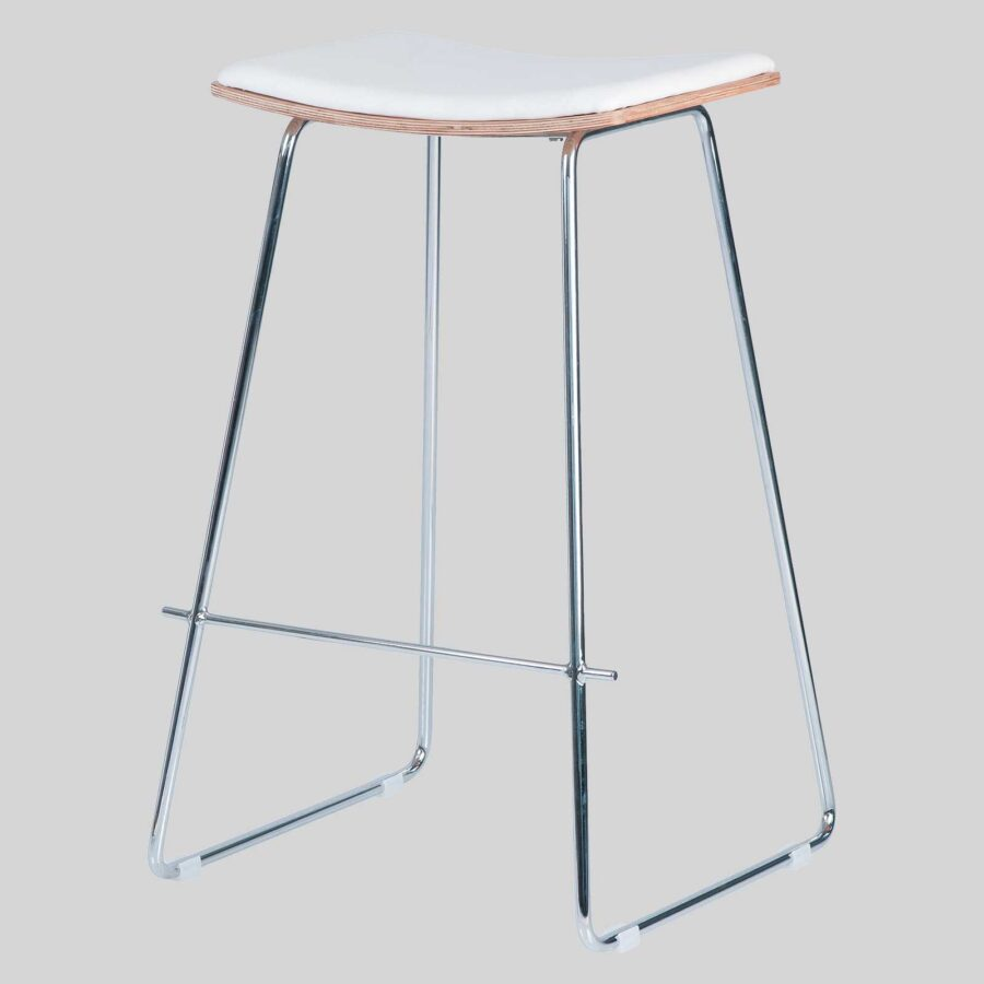 Pi Stool - White, Chrome