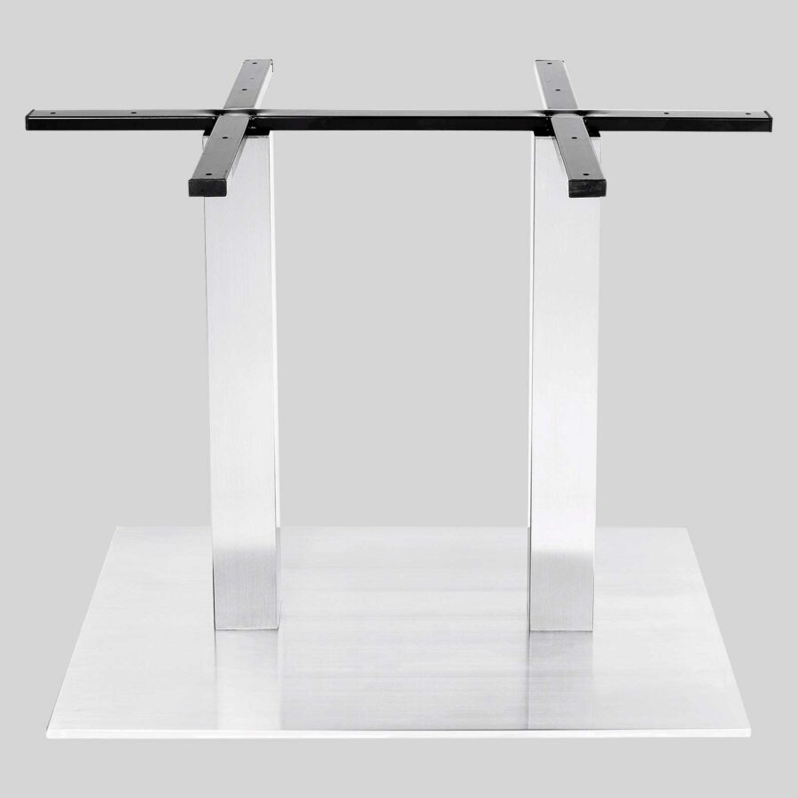 Plaza Twin Dining Table Base - Stainless Steel