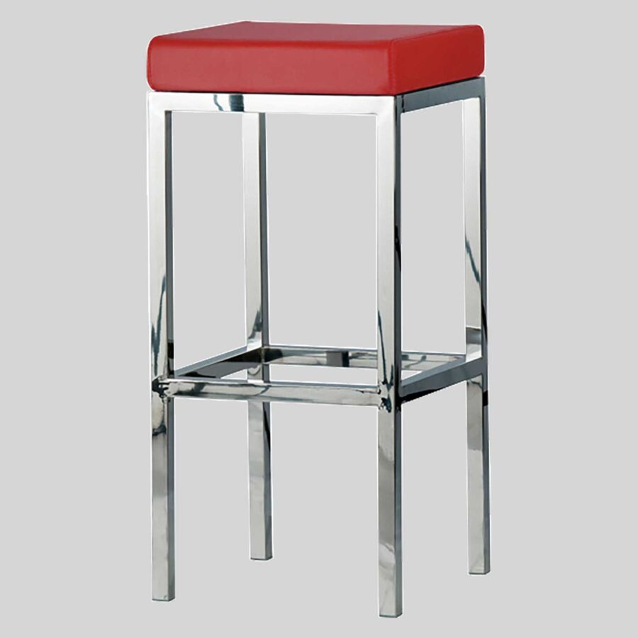 Quentin bar seats - Polioshed Frame, Red Seat
