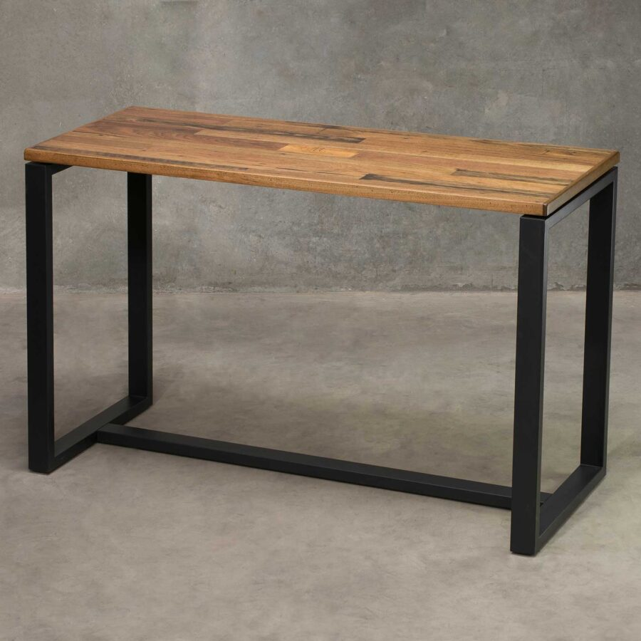 Citadel Bar Table Frame - Black (with Recycled Timber Table Top)