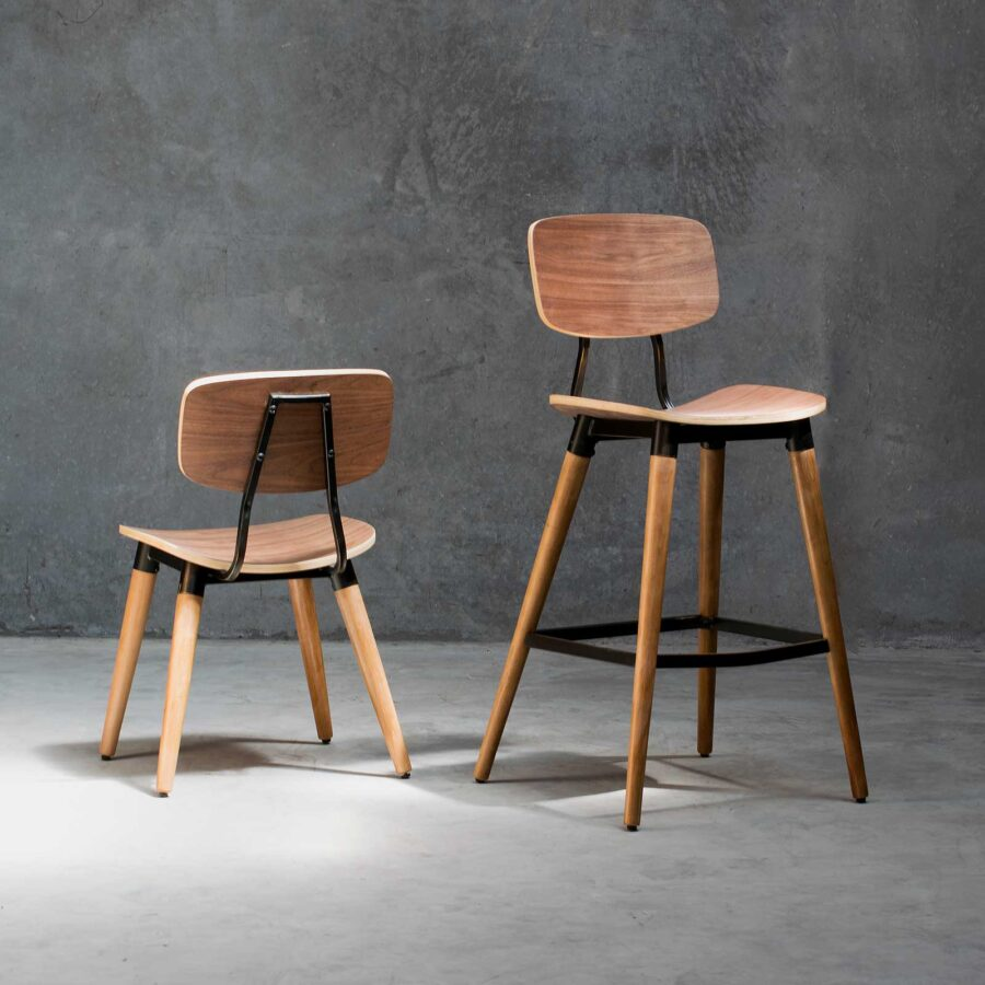 Retro dining chairs and stools