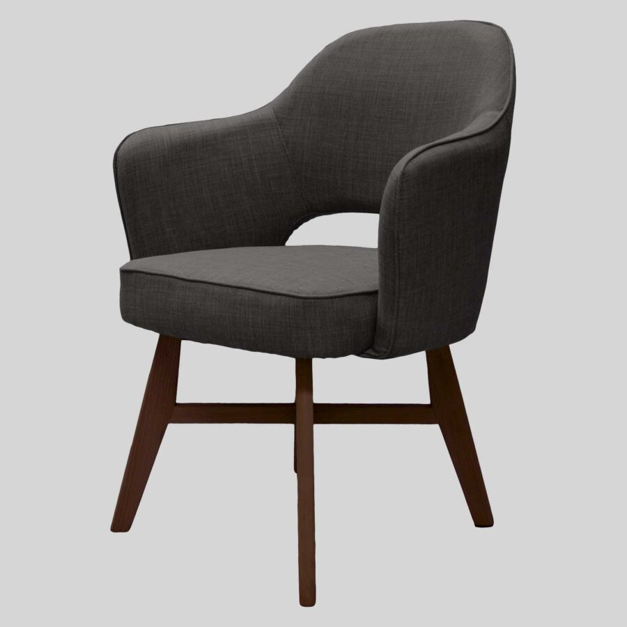 Royale Chair - Charcoal, Walnut Legs