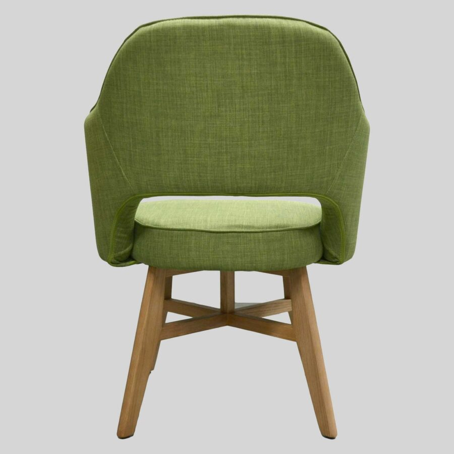 Royale Chair - Green, Natural Legs