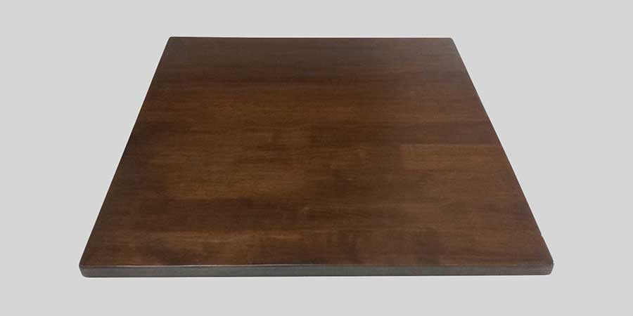 Rubberwood Table Top - Walnut