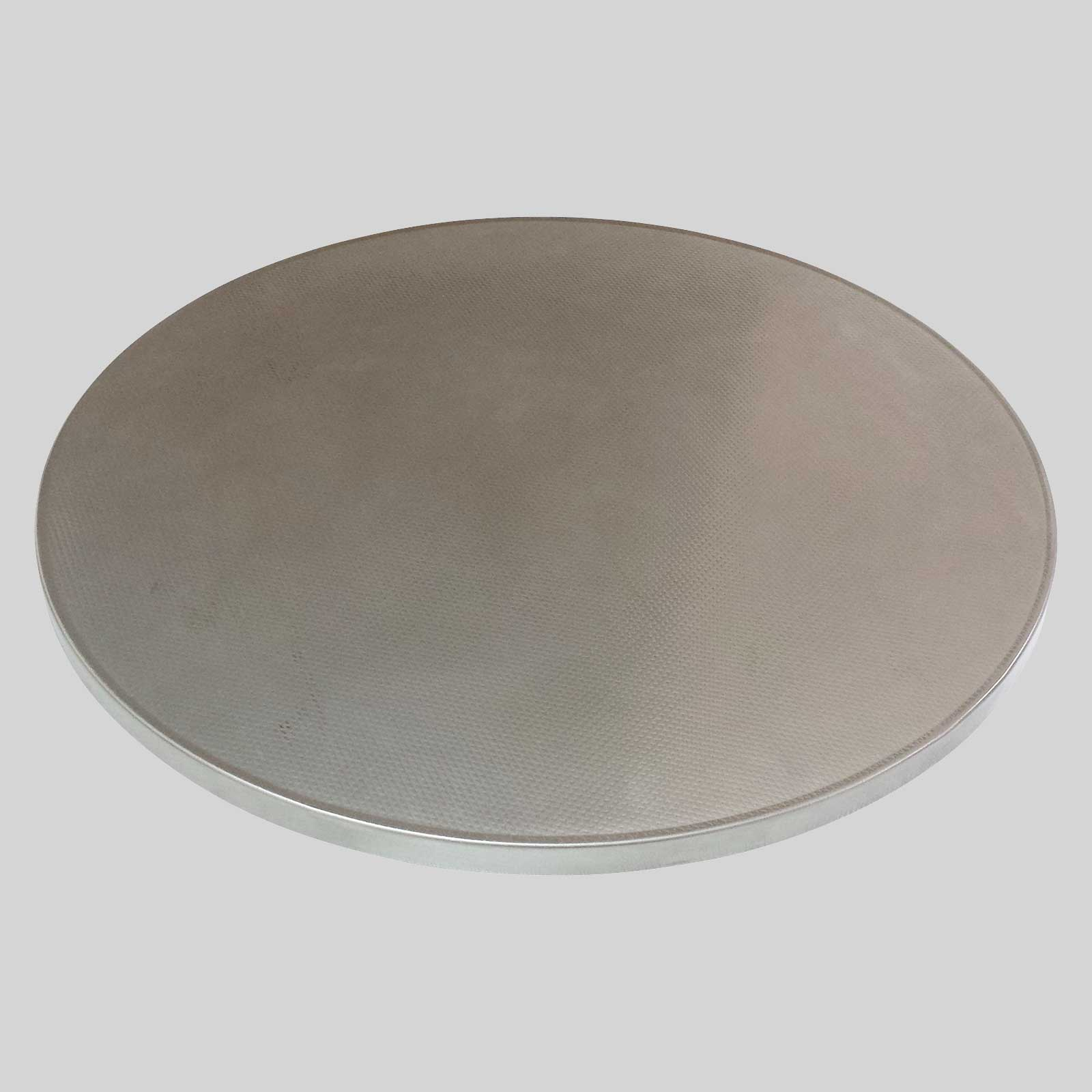 round metal table top