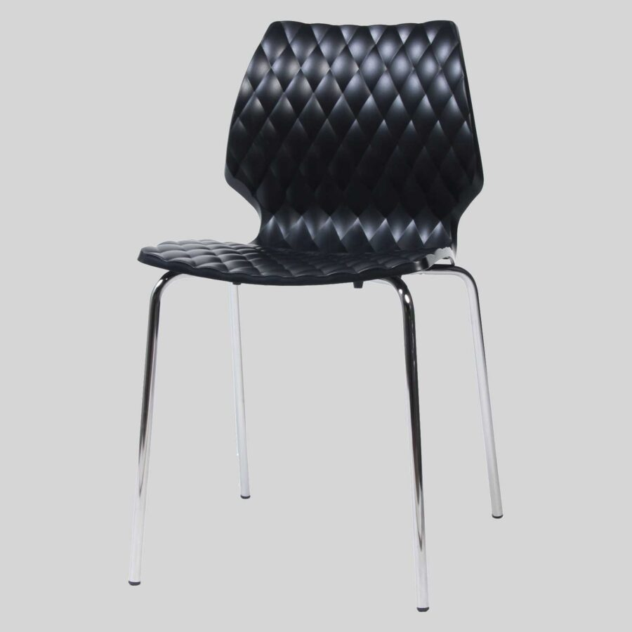 Uniq contemporary dining chairs - Black