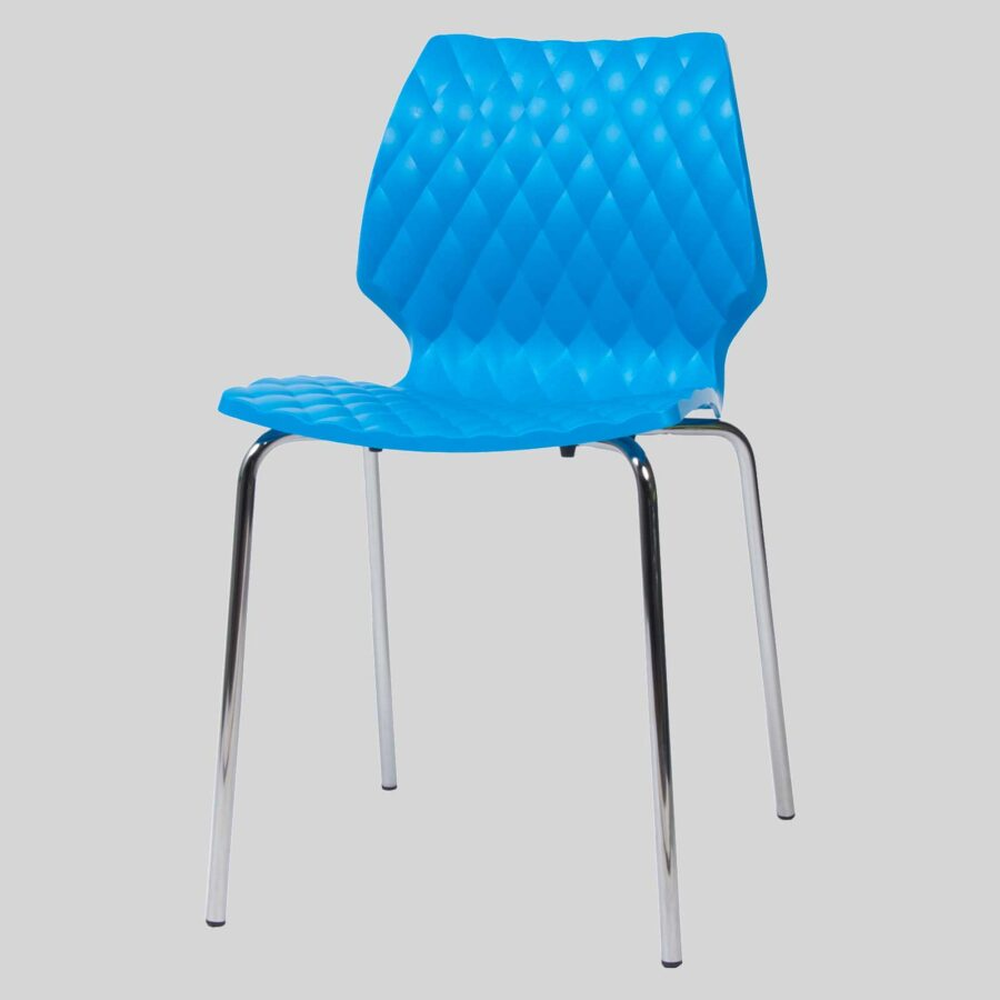 Uniq contemporary dining chairs - Blue