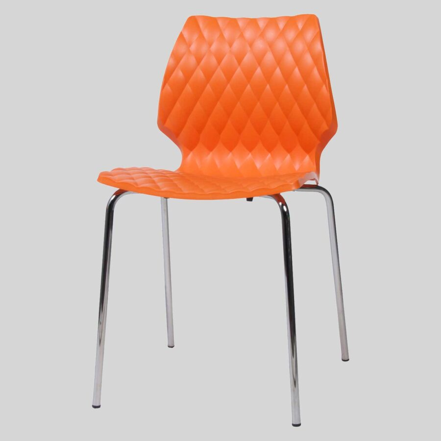 Uniq contemporary dining chairs - Orange
