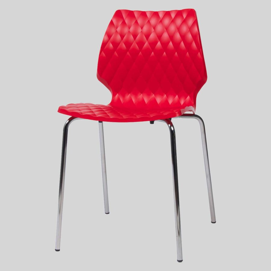Uniq contemporary dining chairs - Red