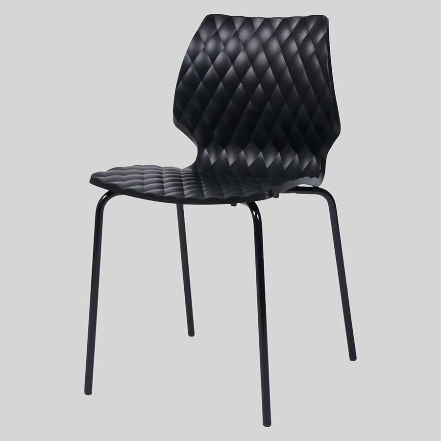 Uniq 4PC Italian Design Chair - Black