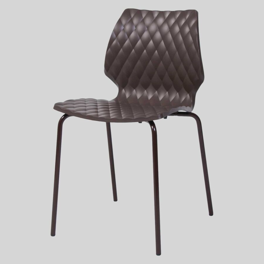 Uniq 4PC Italian Design Chair - Brown