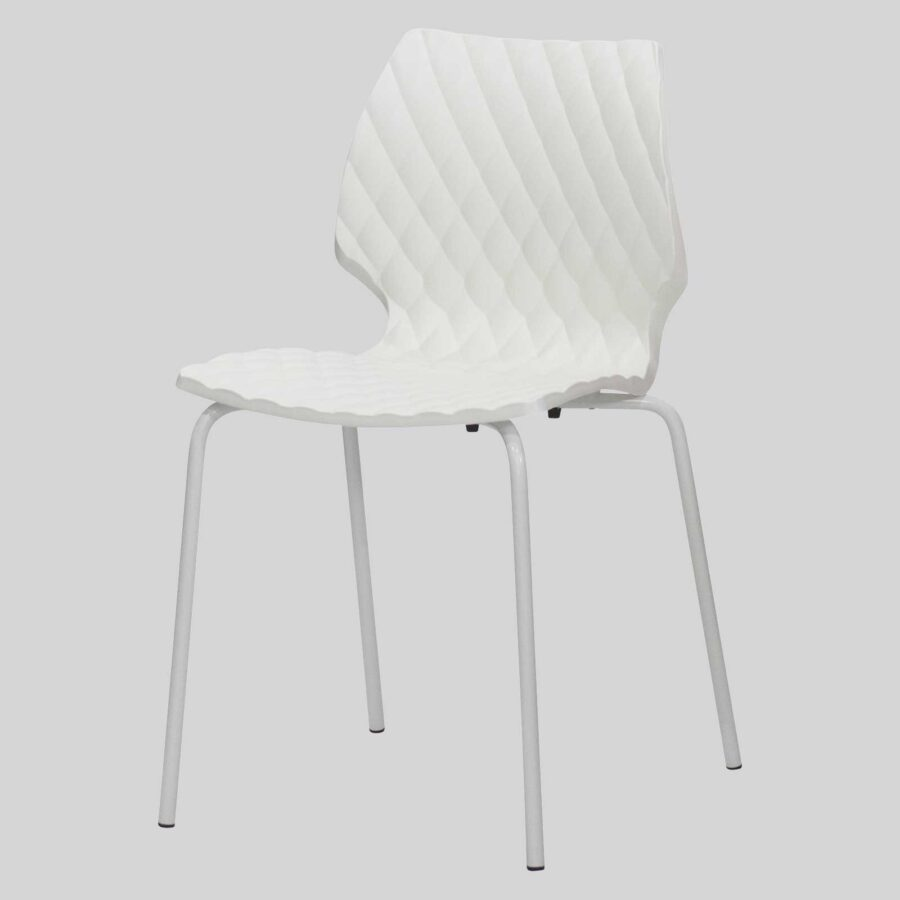 Uniq 4PC Italian Design Chair - White