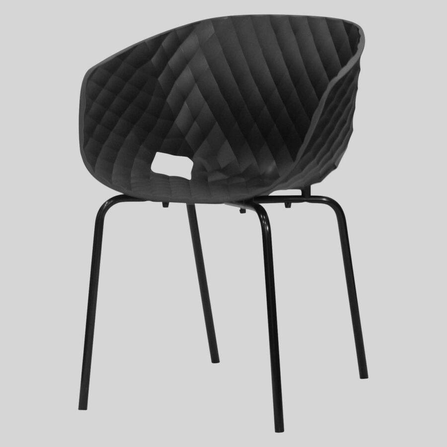 Uniq 4 Leg Italian Designer Armchair - Black