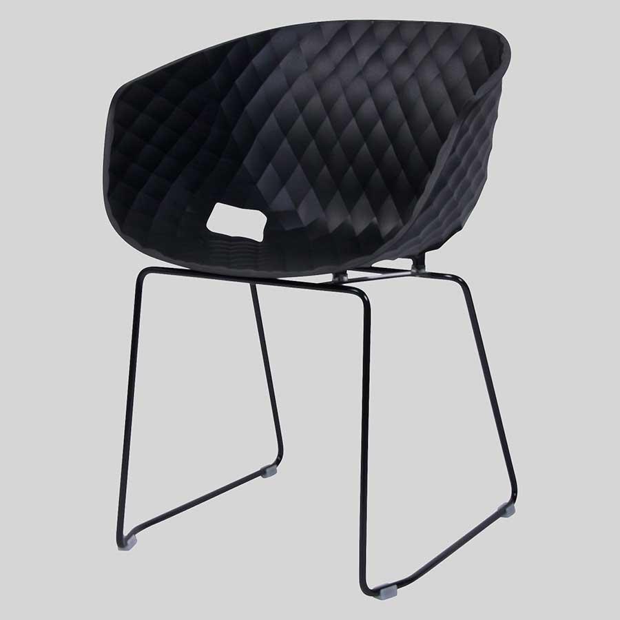 Italian designer armchairs - Uniq Black Sled