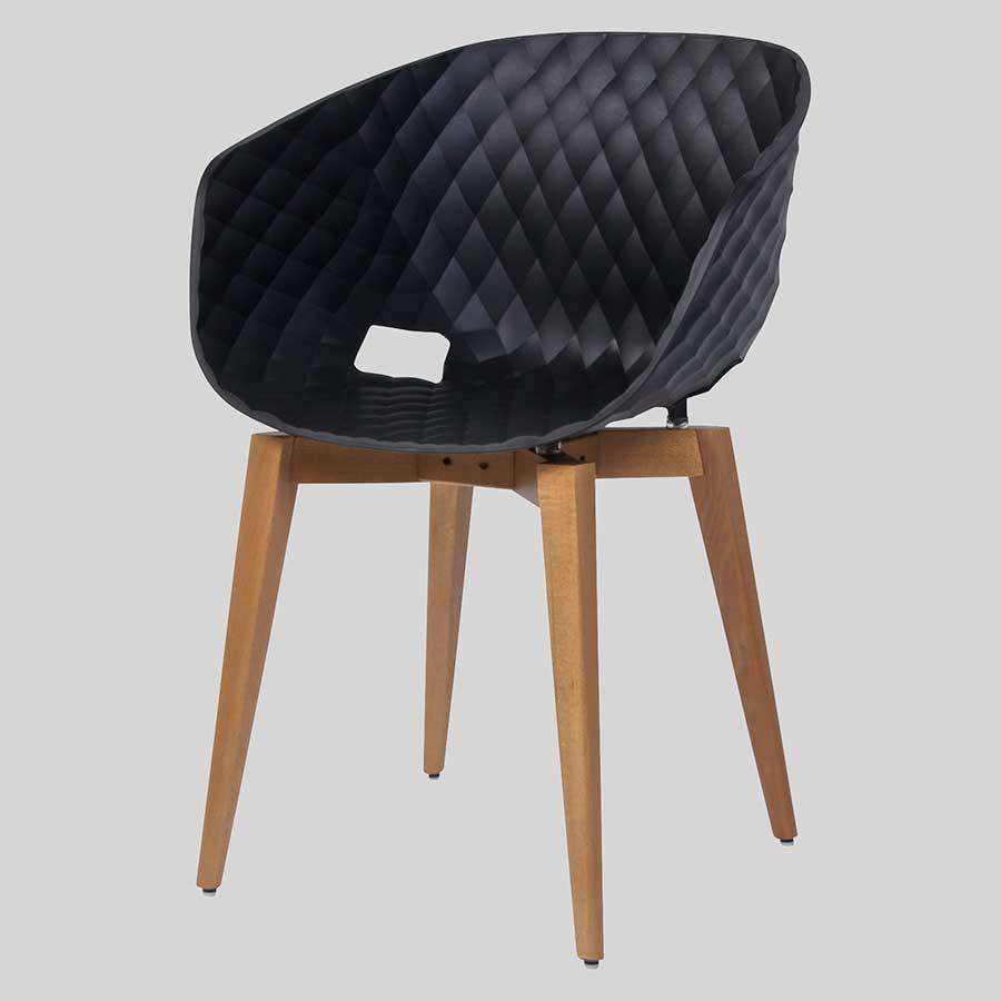 Italian designer armchairs - Uniq Wood Black