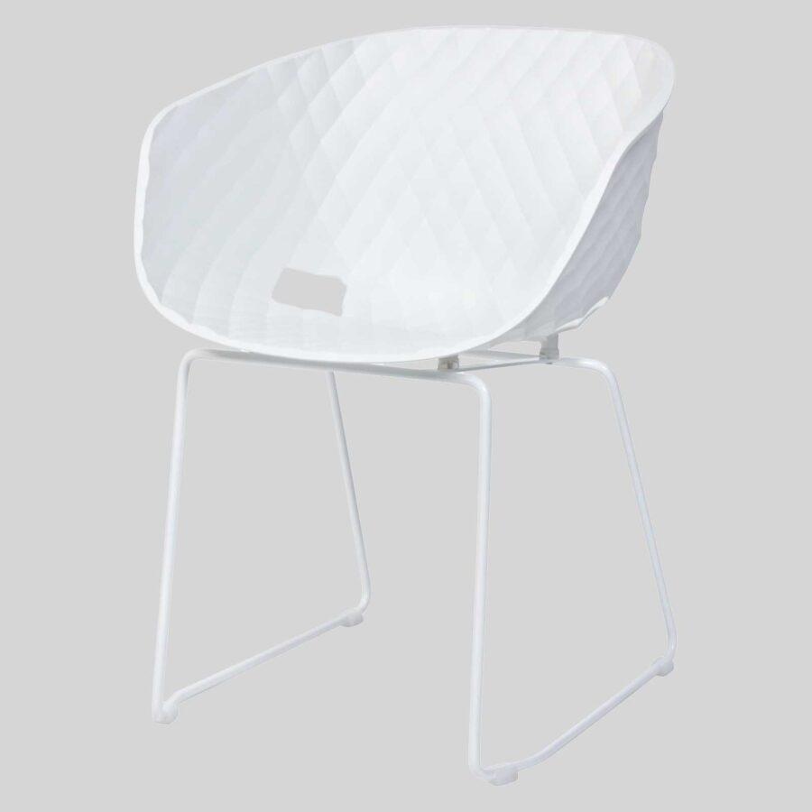 Italian designer armchairs - Uniq White Sled