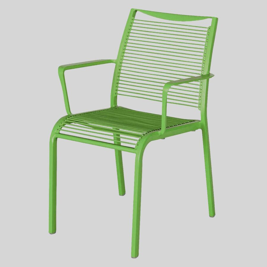 Waverly Outdoor Cafe Chairs with Arms - Green