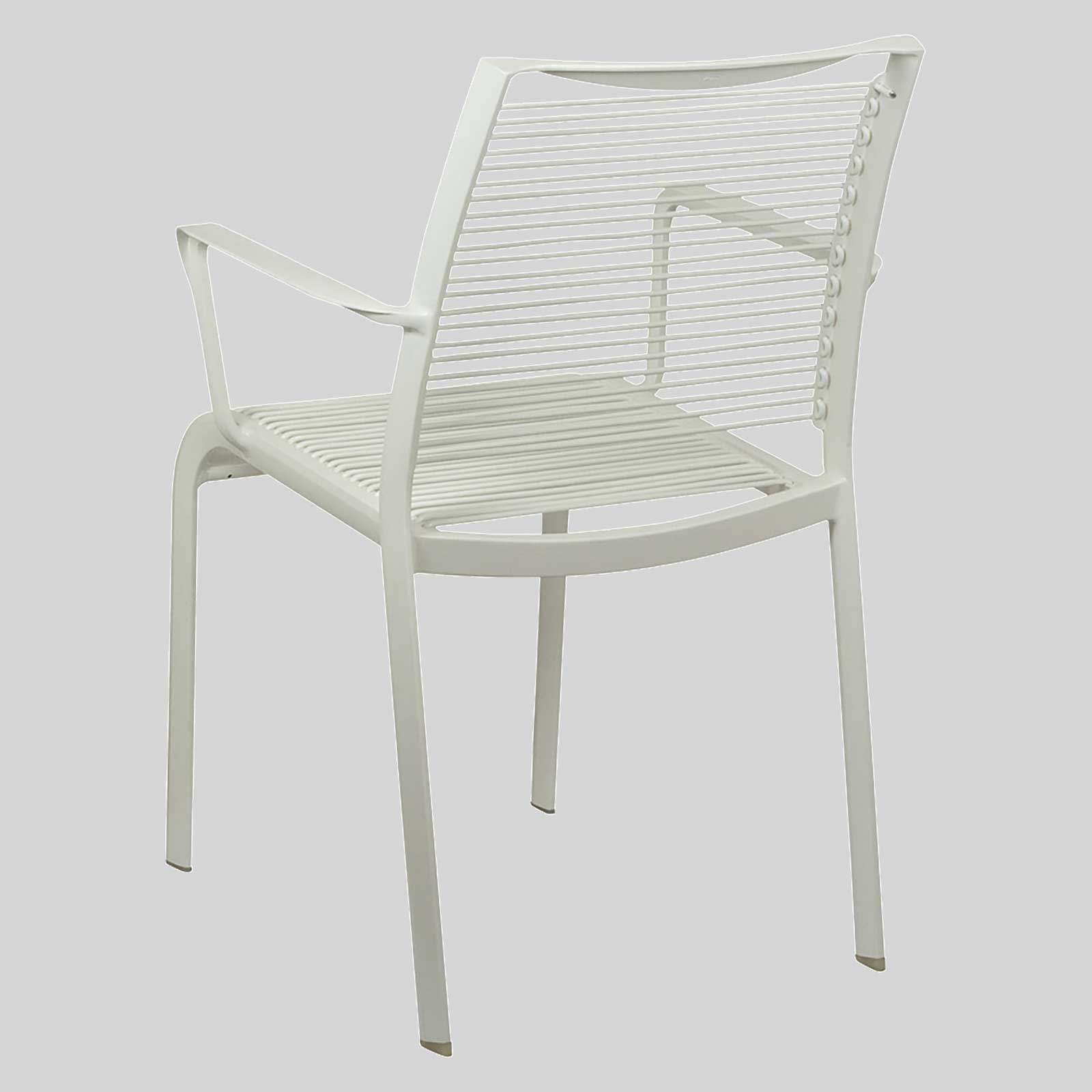Outdoor cafe chairs - Waverly Outdoor Cafe Chairs With Arms White