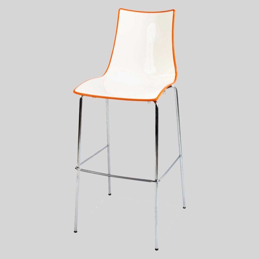 Zelda Duo Bar Stool - Orange