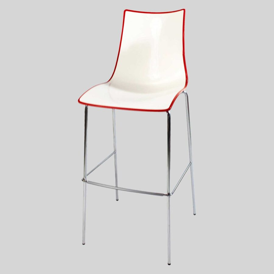 Zelda Duo Bar Stool - Red