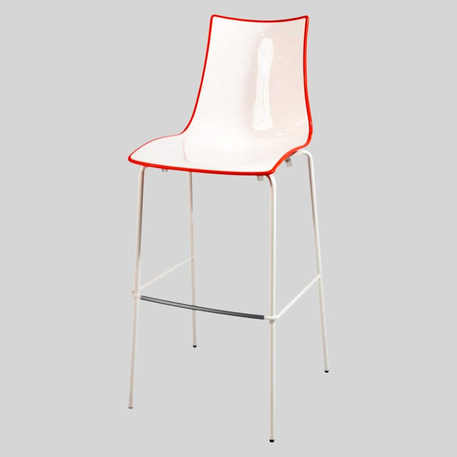 Zelda Duo Outdoor Bar Stool - Red