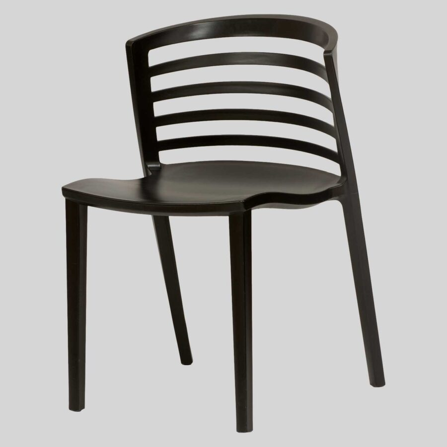 Brighton Outdoor Restaurant Chair - Black