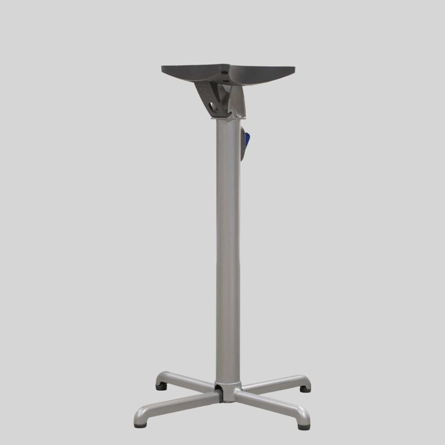 Gyro Swoose Self-Leveling Table Base - Bar: Silver