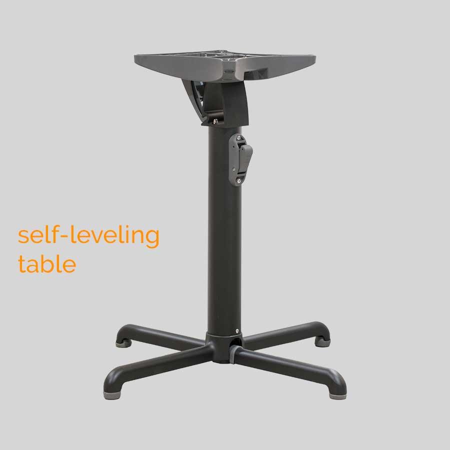 Gyro Self-Leveling Table Base - Dining: Black