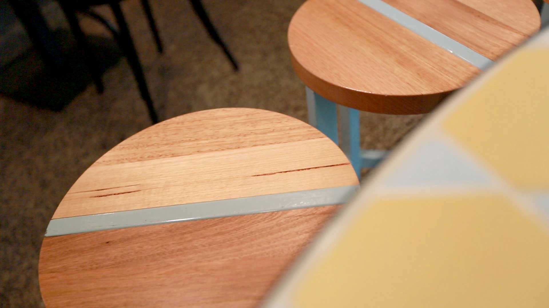 Mayday Coffee and Food - American oak Tables