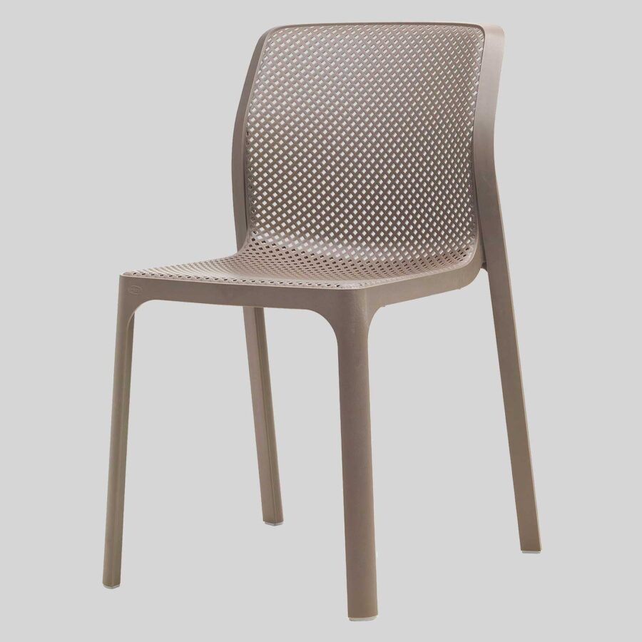 Mette Plastic Cafe Chairs - Taupe