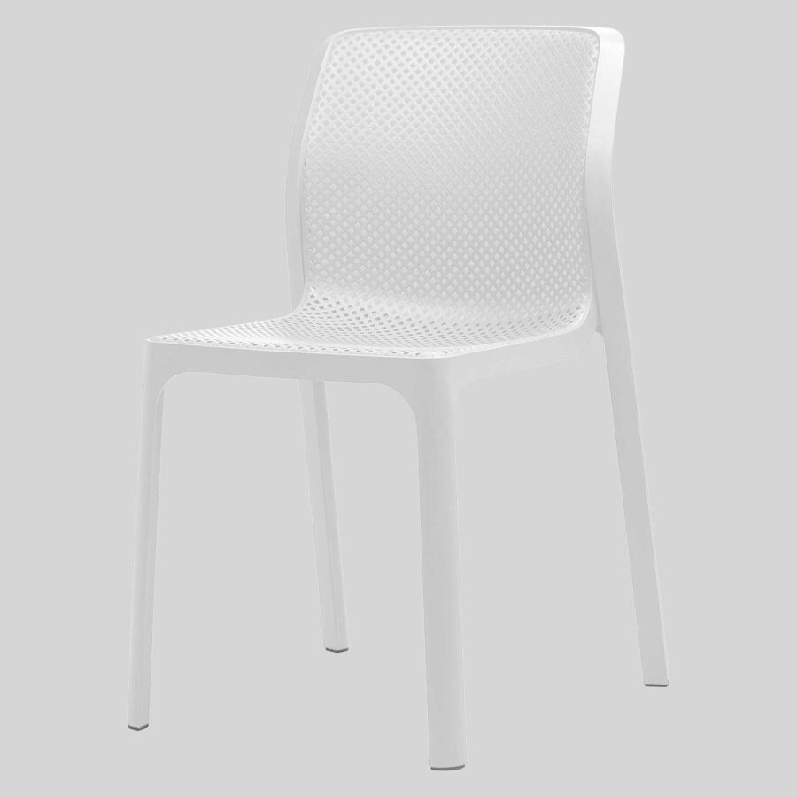 Mette Plastic Cafe Chairs - White