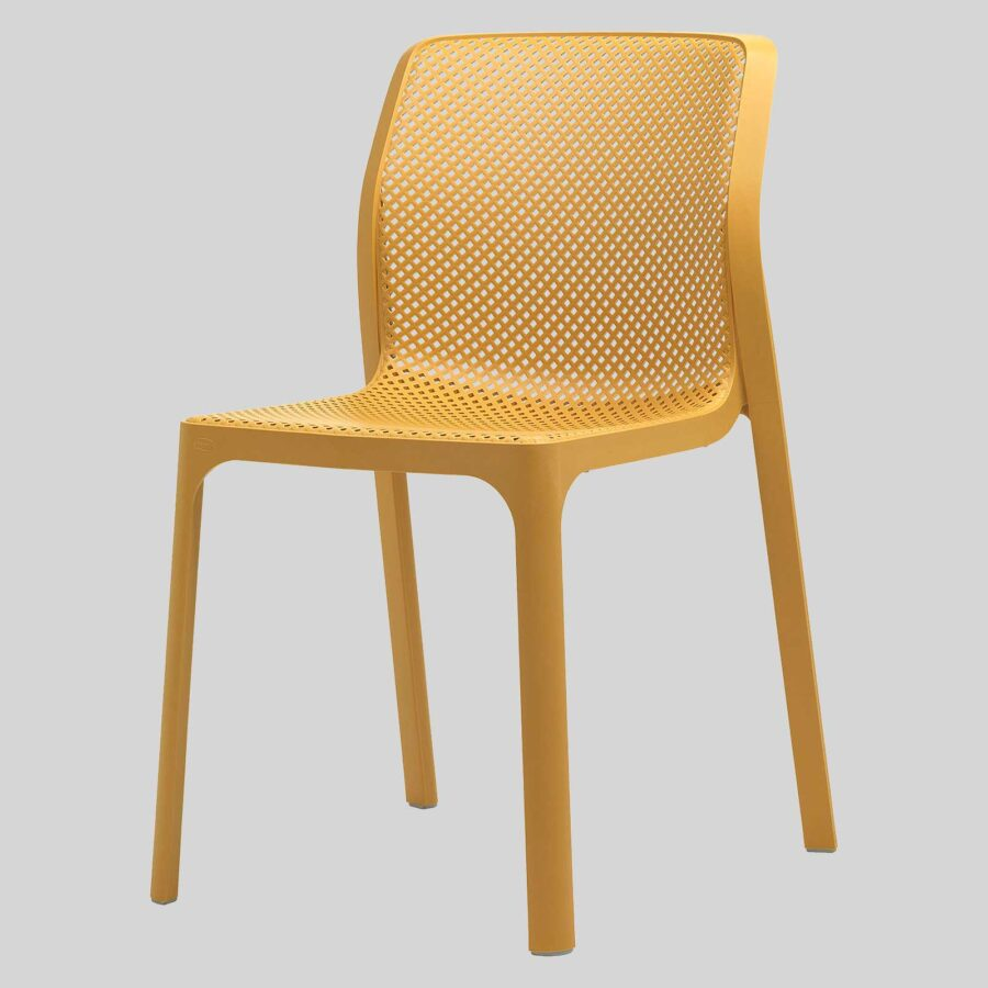Mette Plastic Cafe Chairs - Yellow