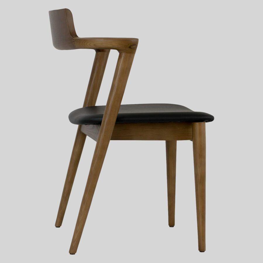 Kingston Side Chair - Walnut Stain, mid-century designer looks