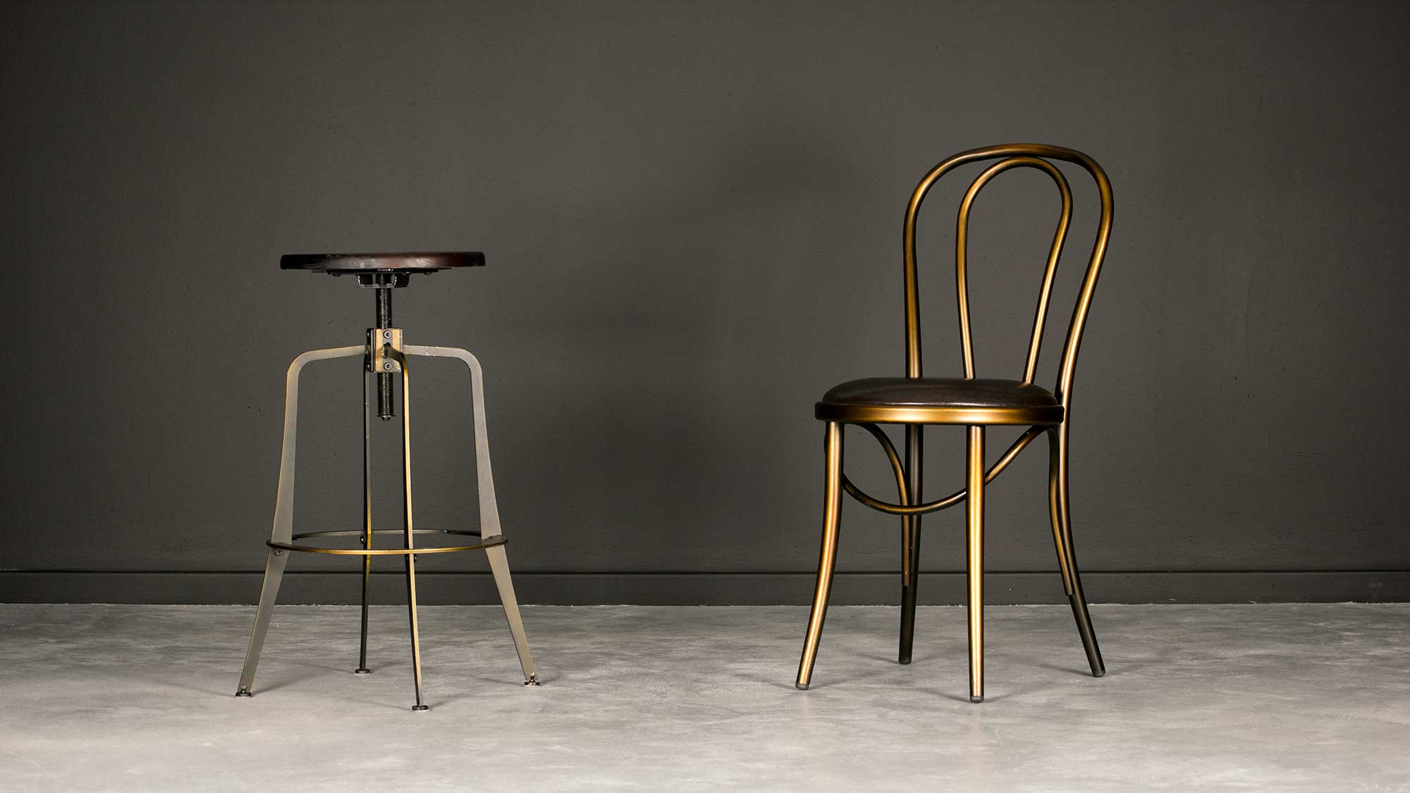 Coleman Spinner Stool and Coleman Bistro Chair