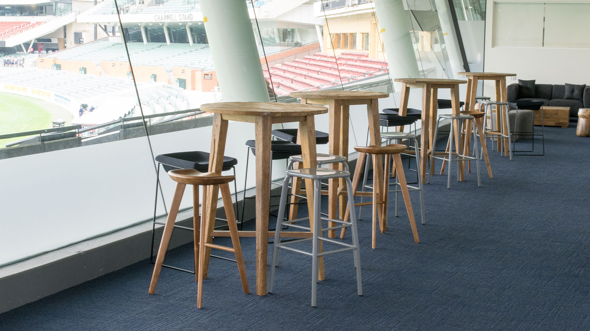 Barstools in the Adelaide Oval Super Box