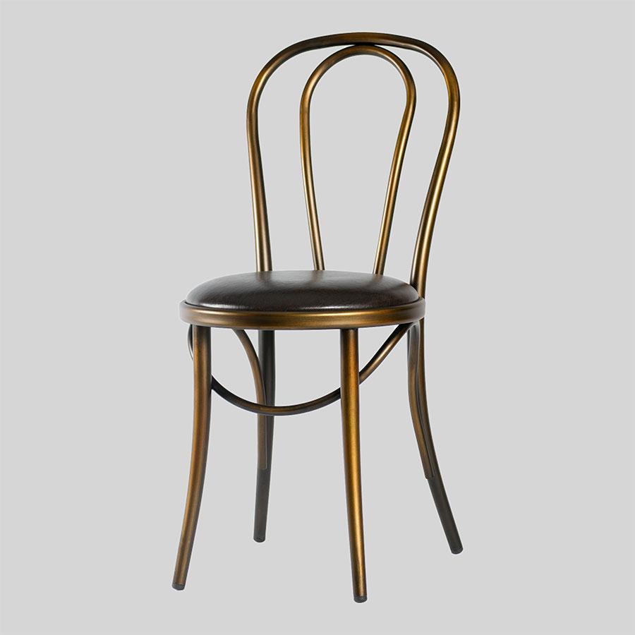 Coleman Bistro Bentwood Chair - Distressed Copper