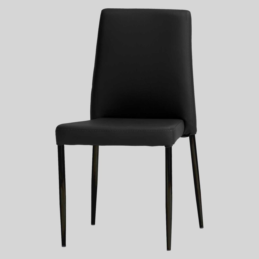 Adelaide Low Back Stackable Chair - Black (Black leg)