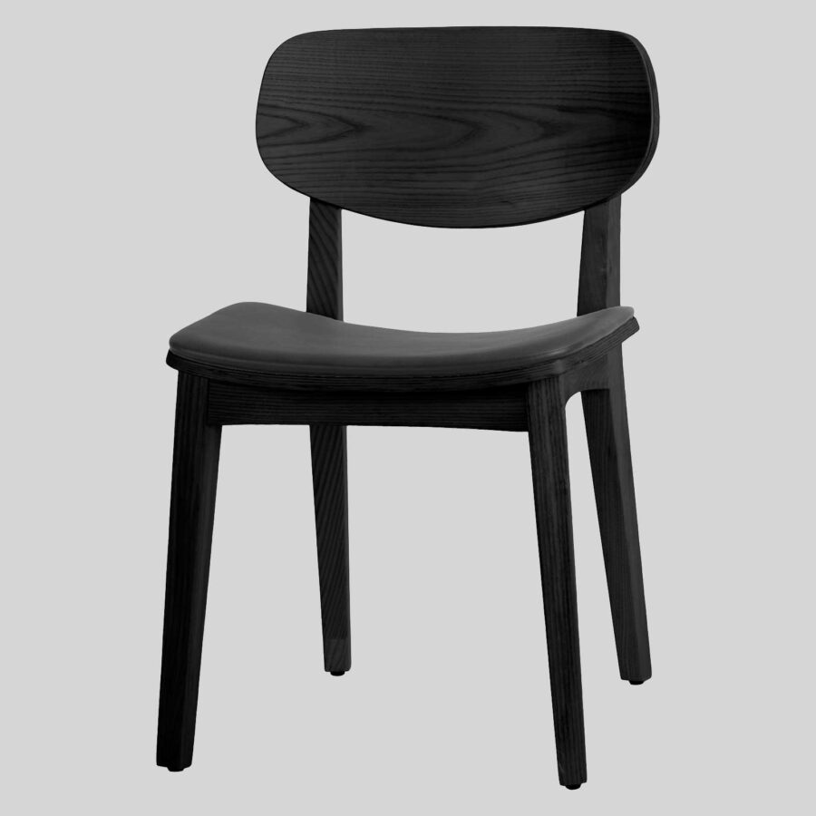Asahi Dining Chair - Black with Black Pad