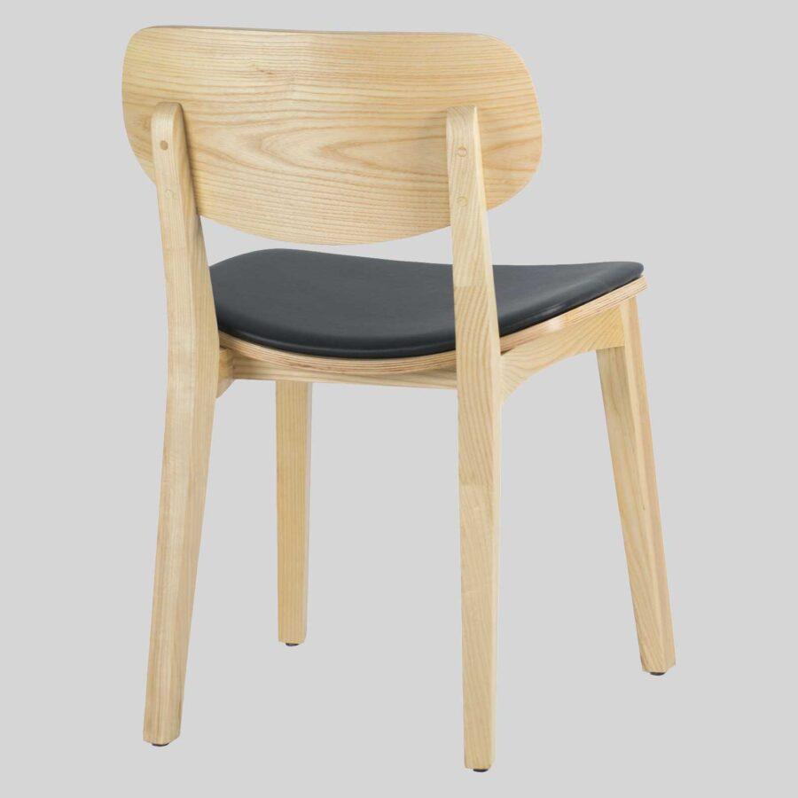 Asahi Dining Chair - Natural with Black Pad