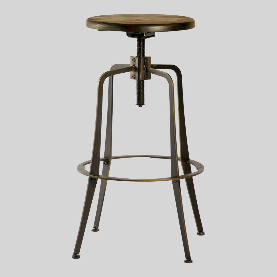 Coleman Spinner Stool - Distressed Copper
