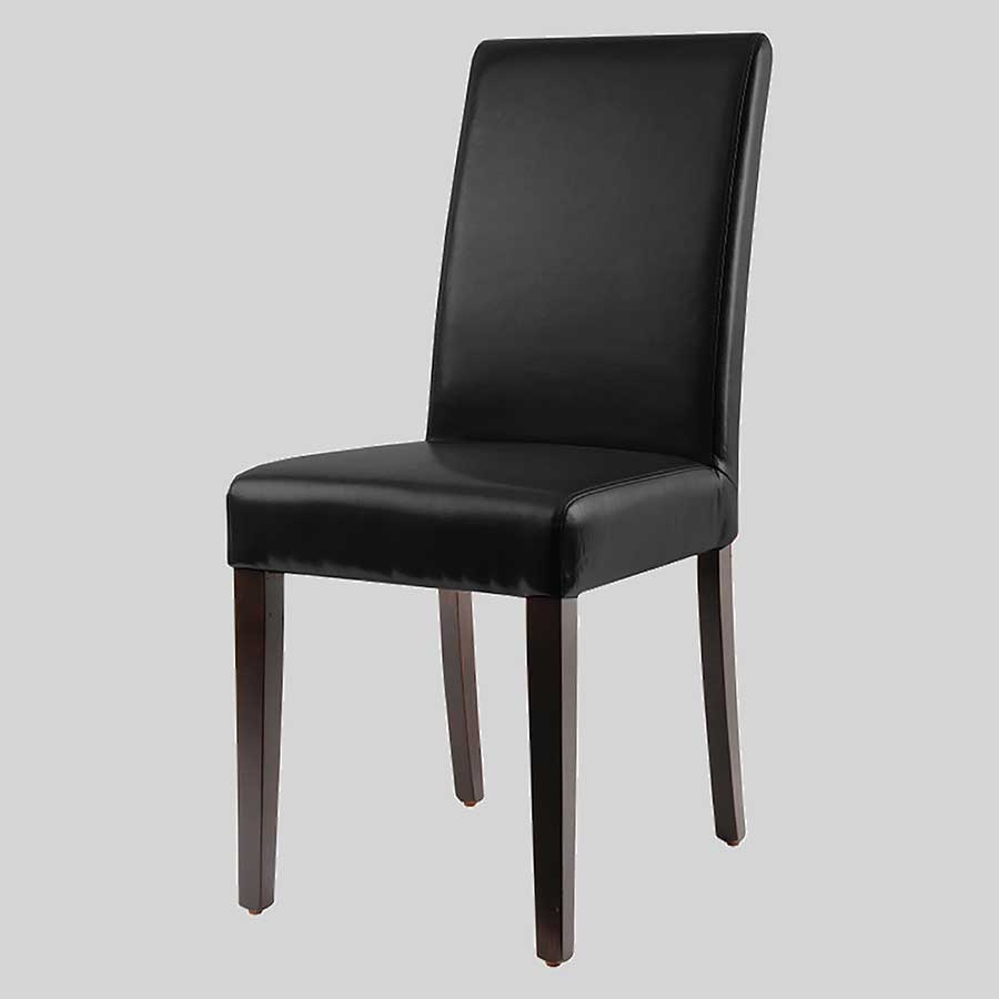 Hudson Leather Dining Chair - Black