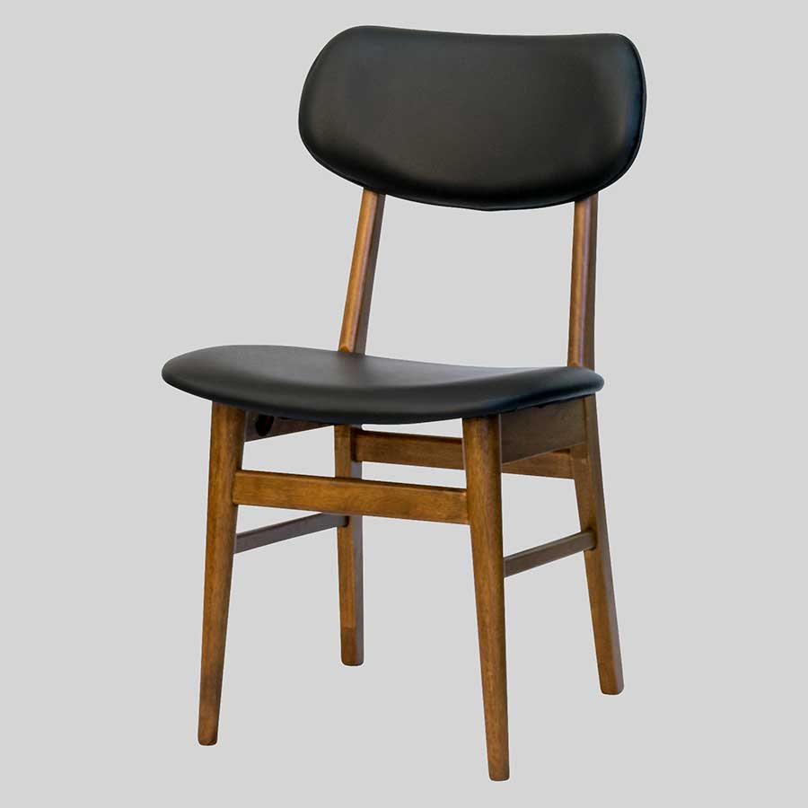 Magnum Table Chairs - Teak/Black