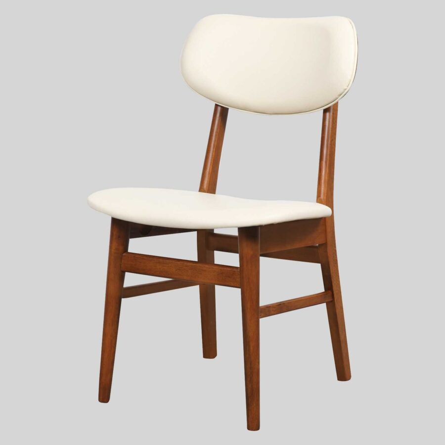 Magnum Table Chair - Teak/Cream