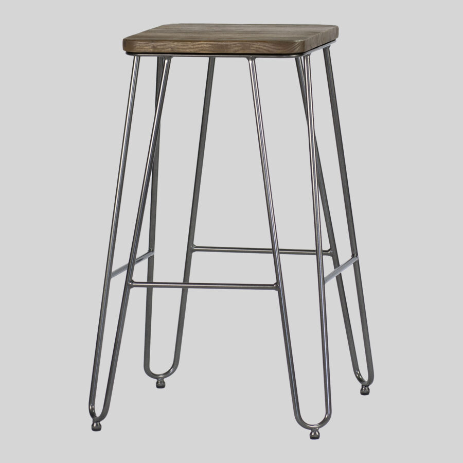 Manhattan Counter Stool - Charcoal with Elm Seat