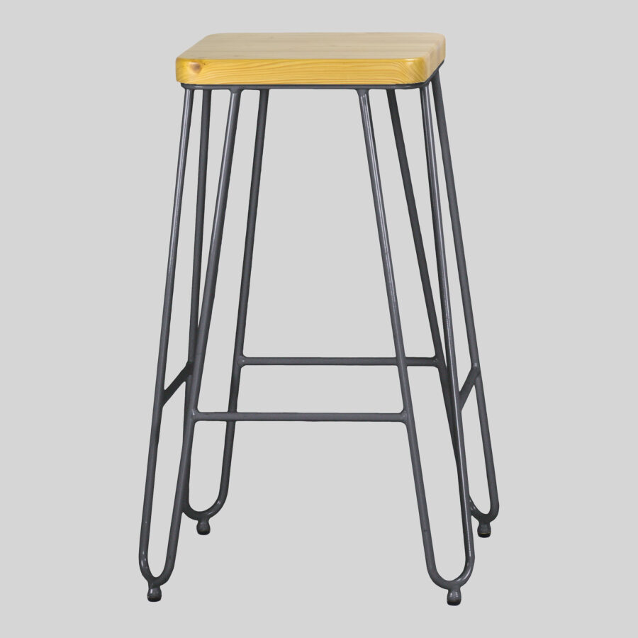 Manhattan Counter Stool - Charcoal with Natural Seat