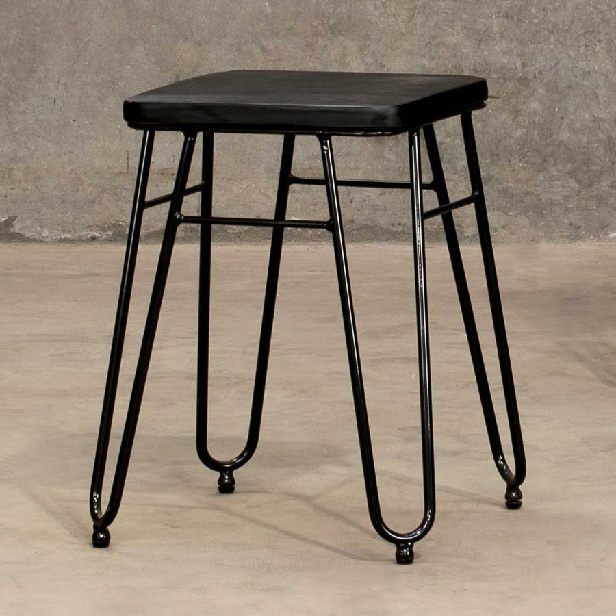 Manhattan Low Stool - Black, Black
